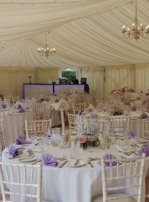 Wedding Bar in Marquee, purple