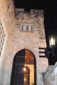Castle Enterance at Hazelwood Castle