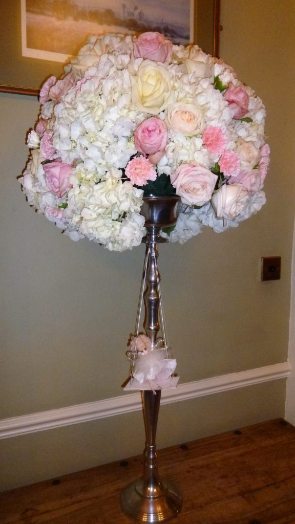 Floral Bouquet at a New Years Eve Wedding at Hazelwood Castle