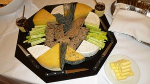 Large cheese platter at Hazelwood Castle