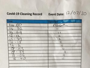 Cleaning Record
